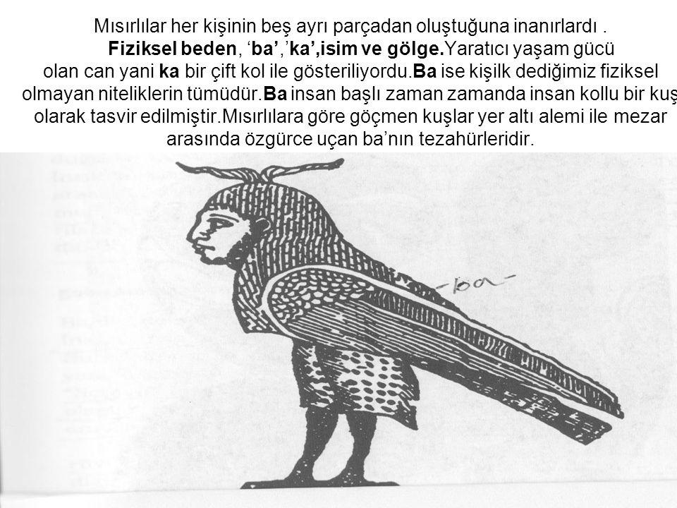 Mısırlılar her kişinin beş ayrı parçadan oluştuğuna inanırlardı