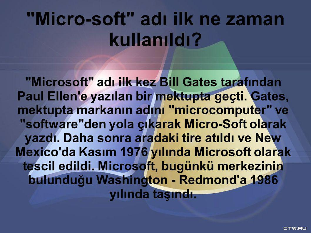 Micro-soft adı ilk ne zaman kullanıldı