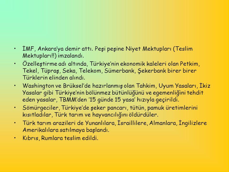 İMF, Ankara'ya demir attı