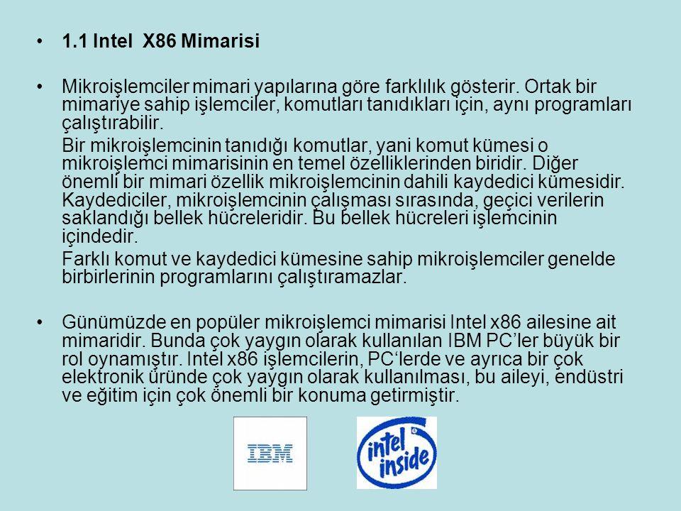 1.1 Intel X86 Mimarisi