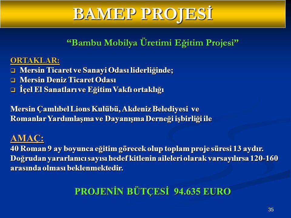 Bambu Mobilya Üretimi Eğitim Projesi