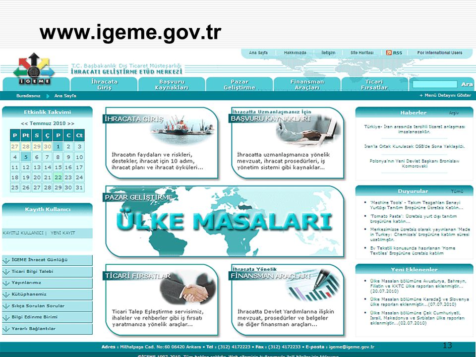 www.igeme.gov.tr 13 13