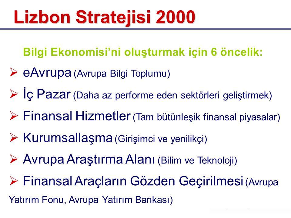 Lizbon Stratejisi 2000 eAvrupa (Avrupa Bilgi Toplumu)