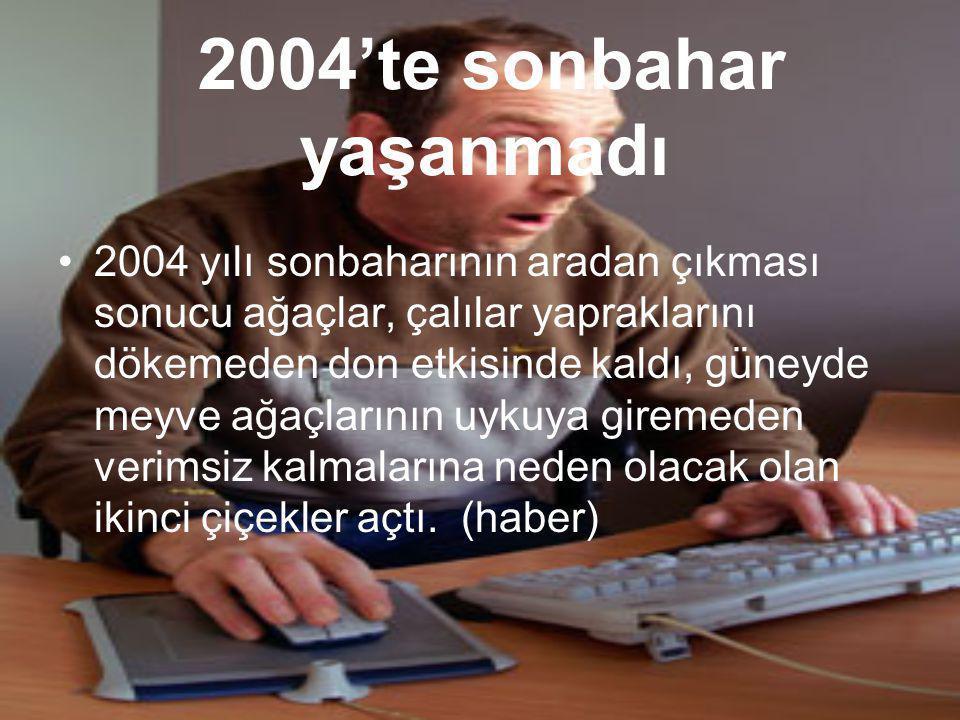 2004'te sonbahar yaşanmadı
