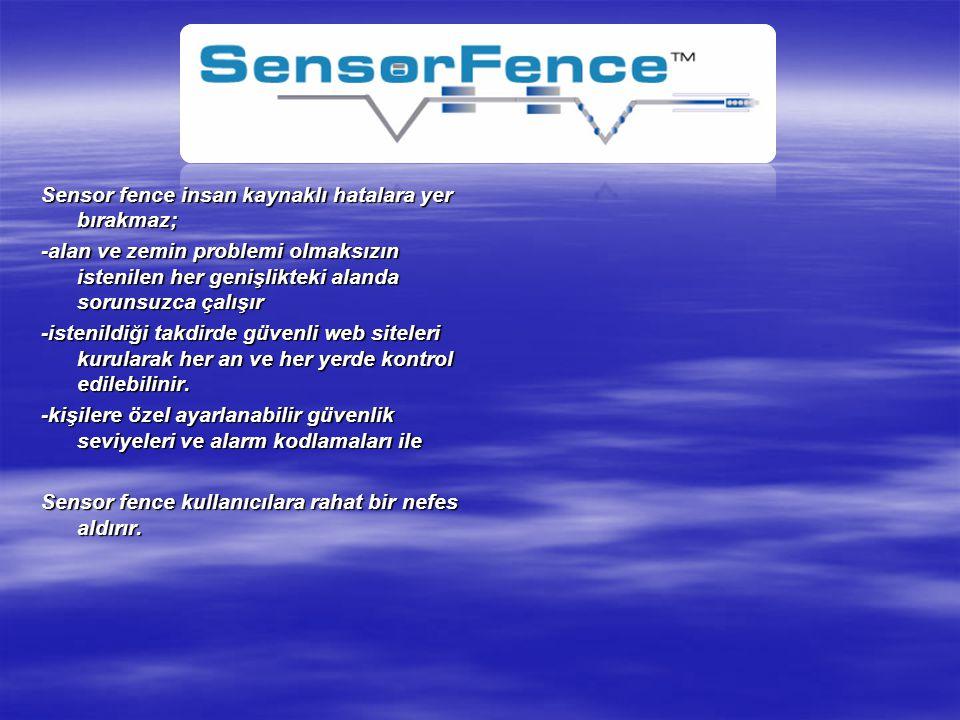 Sensor fence insan kaynaklı hatalara yer bırakmaz;