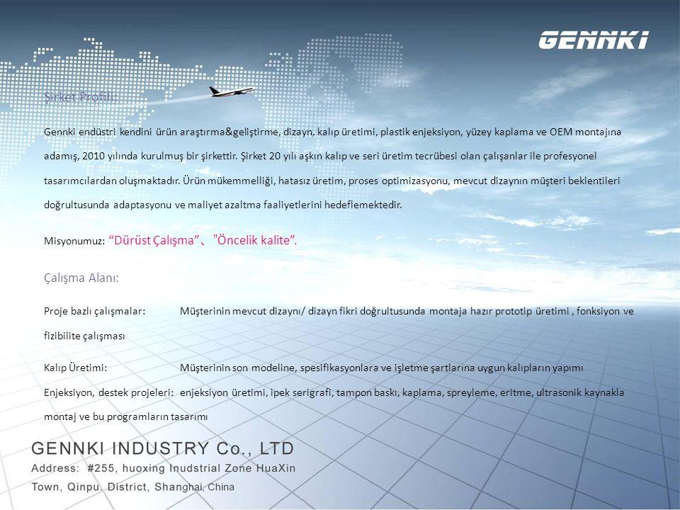 Şirket Profili: Çalışma Alanı: