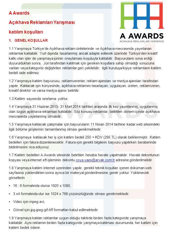 Açıkhava Reklamları Yarışması katılım koşulları