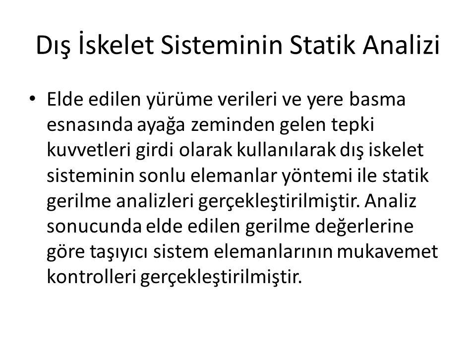 Dış İskelet Sisteminin Statik Analizi