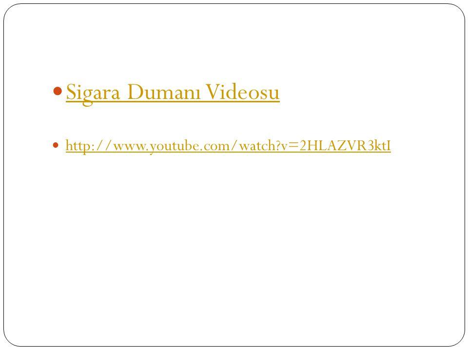 Sigara Dumanı Videosu http://www.youtube.com/watch v=2HLAZVR3ktI