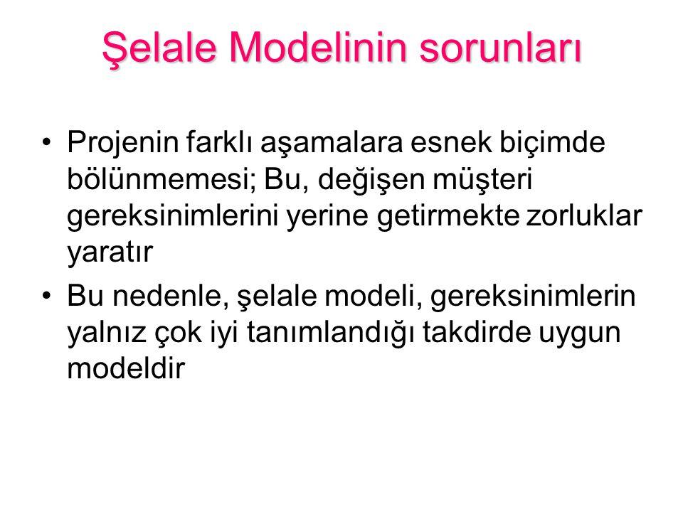 Şelale Modelinin sorunları