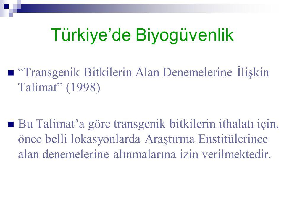 Türkiye'de Biyogüvenlik