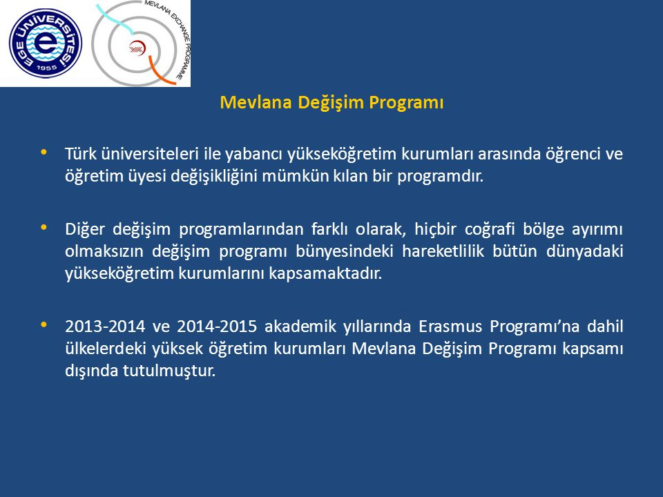 Mevlana Değişim Programı