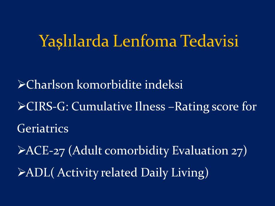 Yaşlılarda Lenfoma Tedavisi