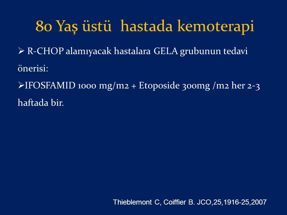 80 Yaş üstü hastada kemoterapi
