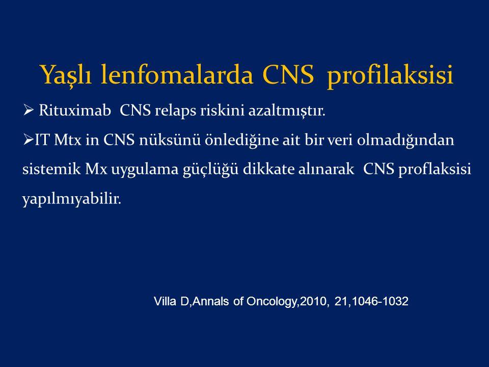 Yaşlı lenfomalarda CNS profilaksisi