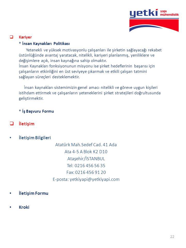 Atatürk Mah.Sedef Cad. 41 Ada Ata 4-5 A Blok K2 D10 Ataşehir/İSTANBUL