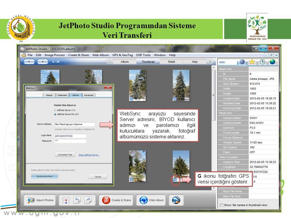 JetPhoto Studio Programından Sisteme
