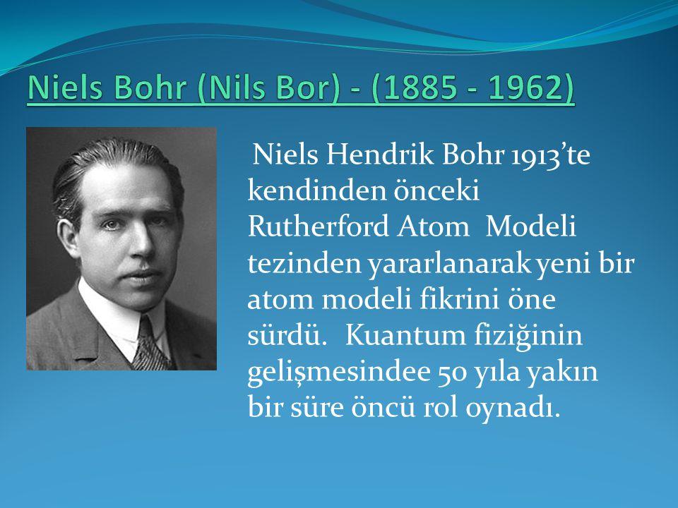 Niels Bohr (Nils Bor) - (1885 - 1962)