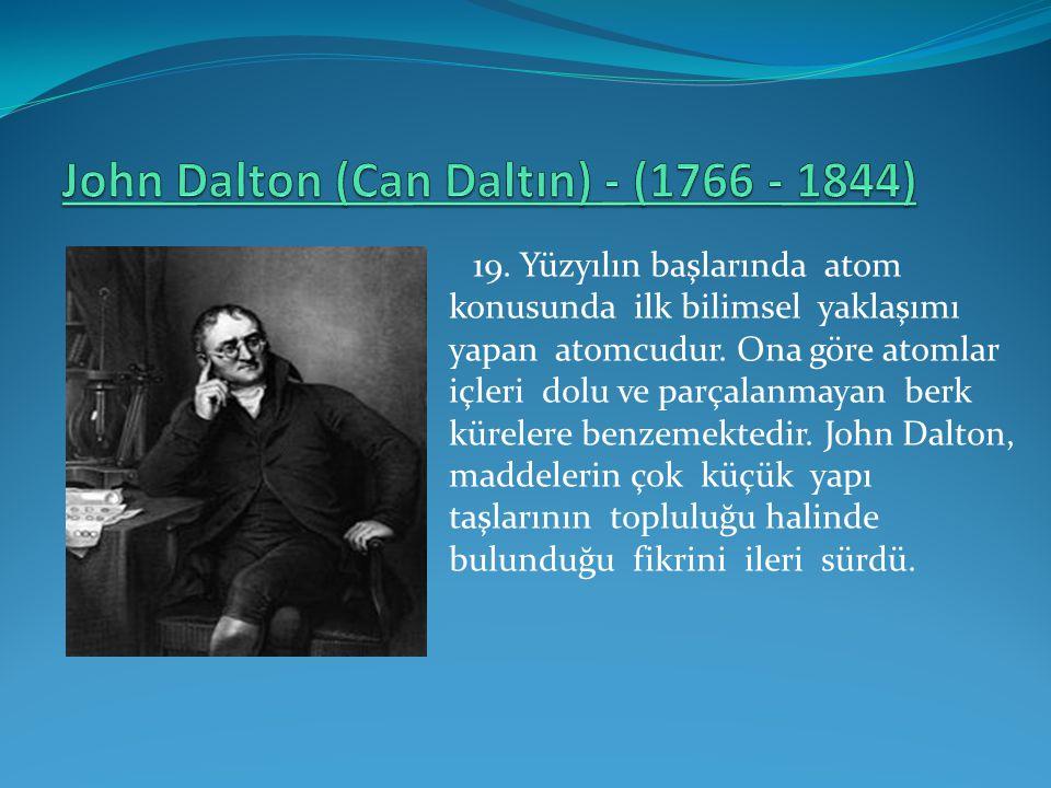 John Dalton (Can Daltın) - (1766 - 1844)