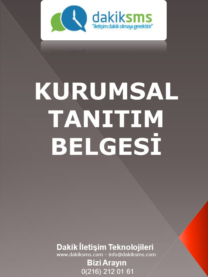 KURUMSAL TANITIM BELGESİ