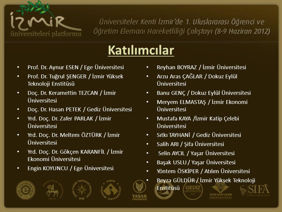 Katılımcılar Prof. Dr. Aynur ESEN / Ege Üniversitesi