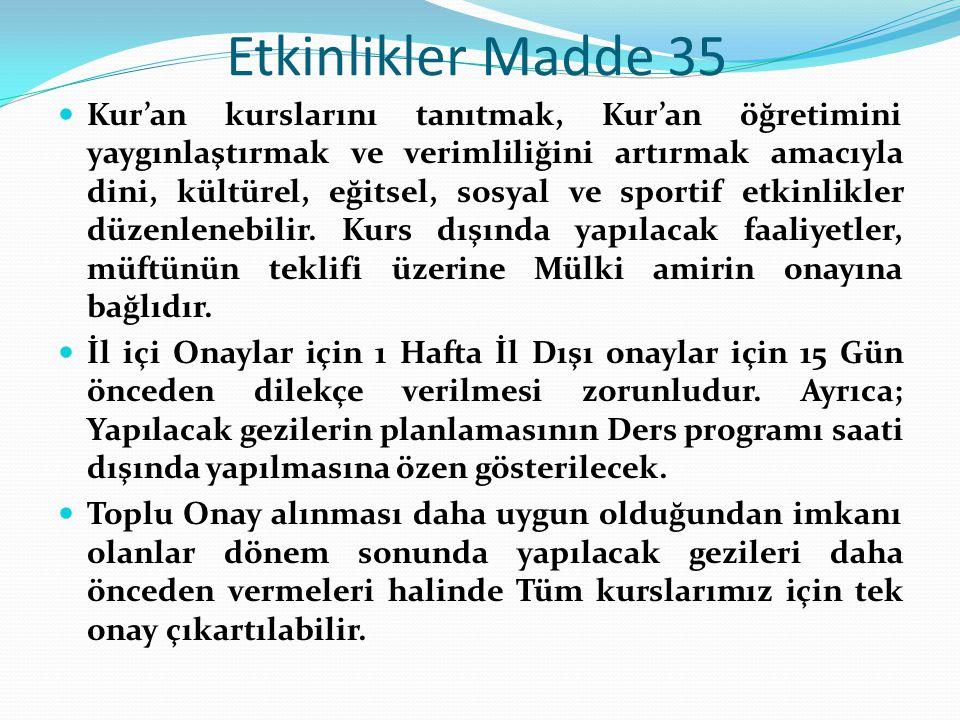 Etkinlikler Madde 35