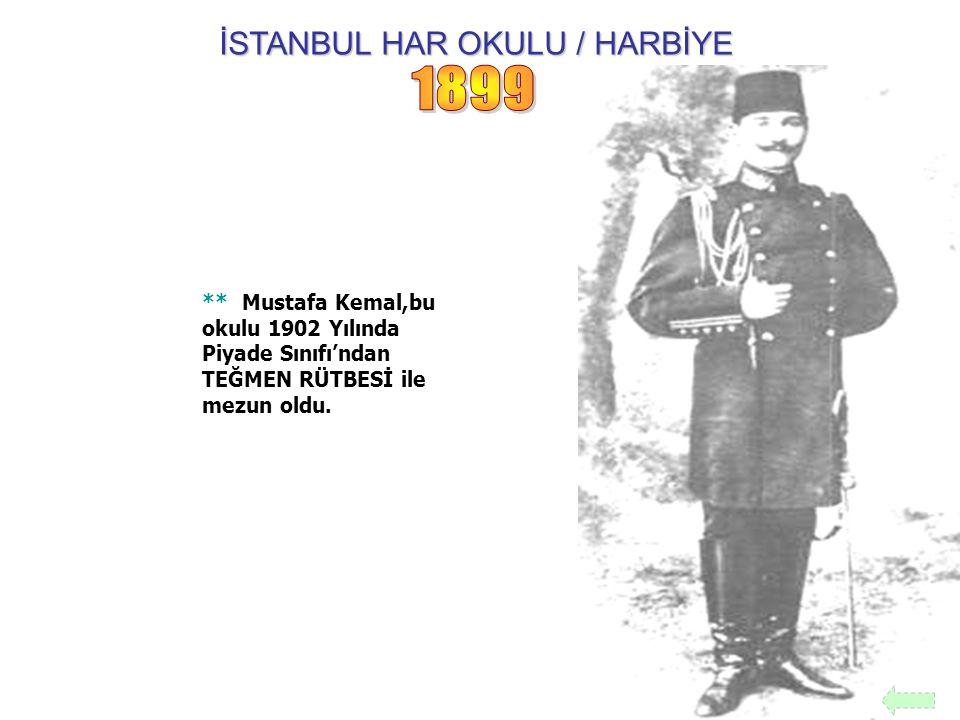 İSTANBUL HAR OKULU / HARBİYE