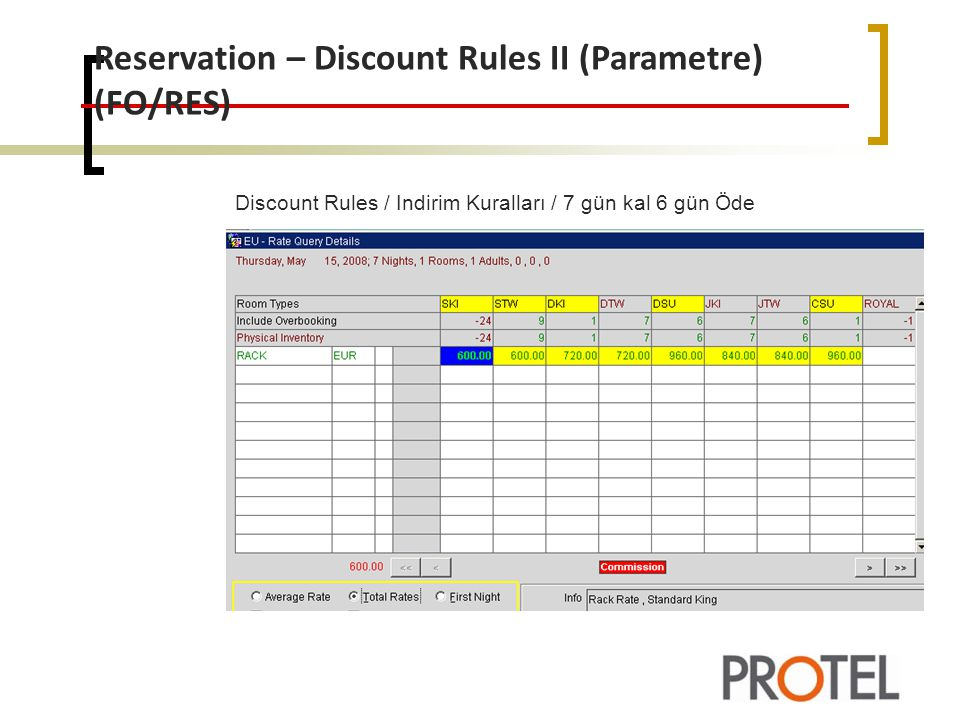 Reservation – Discount Rules II (Parametre) (FO/RES)