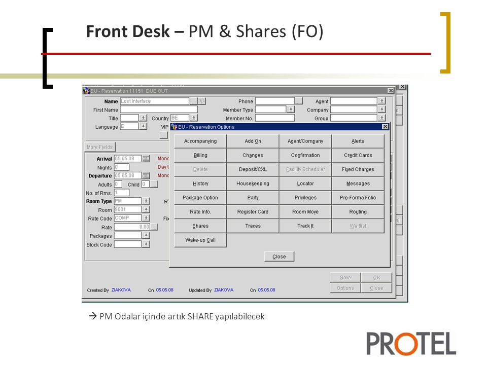Front Desk – PM & Shares (FO)