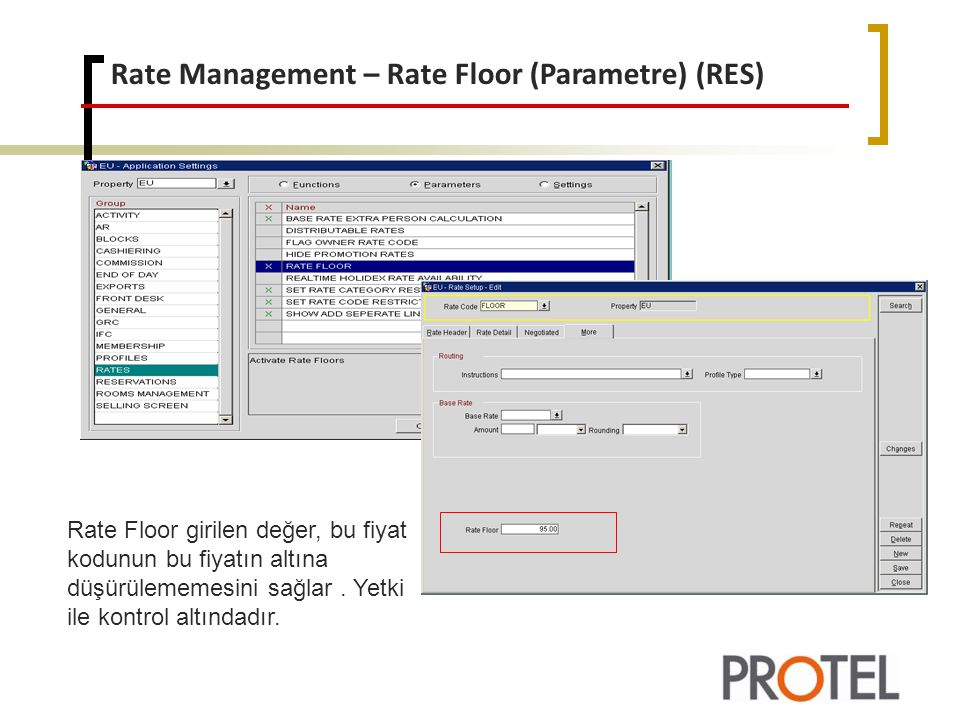 Rate Management – Rate Floor (Parametre) (RES)