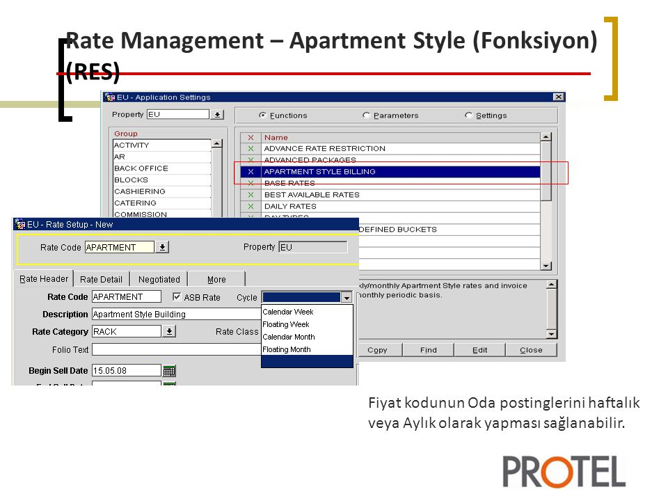 Rate Management – Apartment Style (Fonksiyon) (RES)
