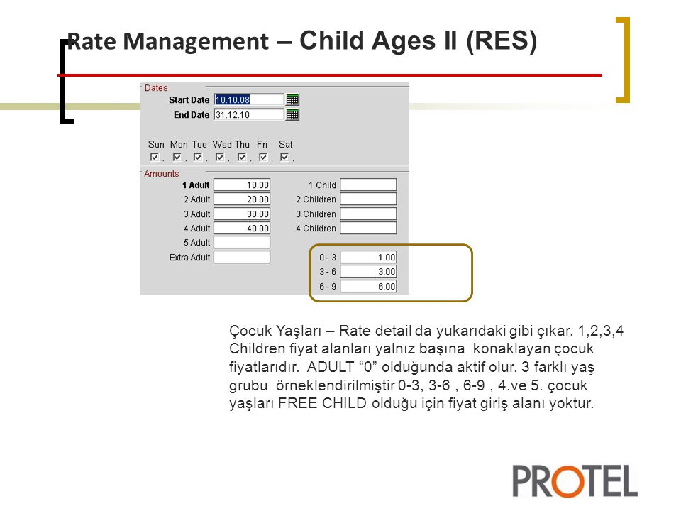Rate Management – Child Ages II (RES)