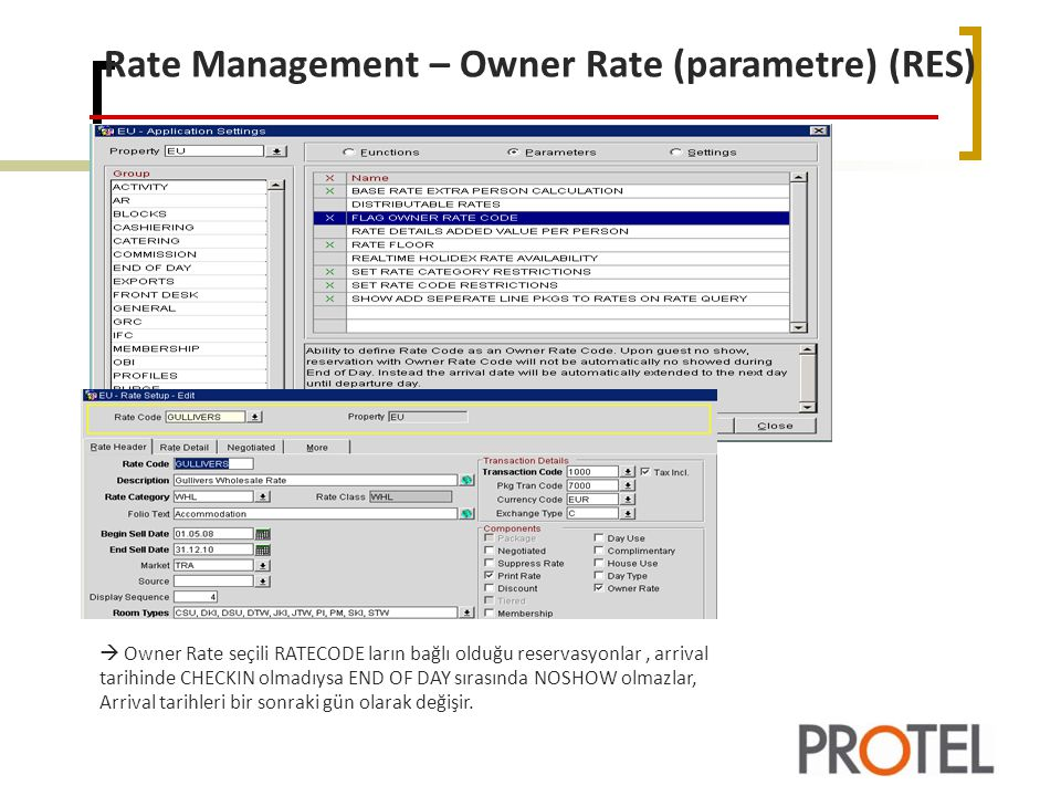 Rate Management – Owner Rate (parametre) (RES)