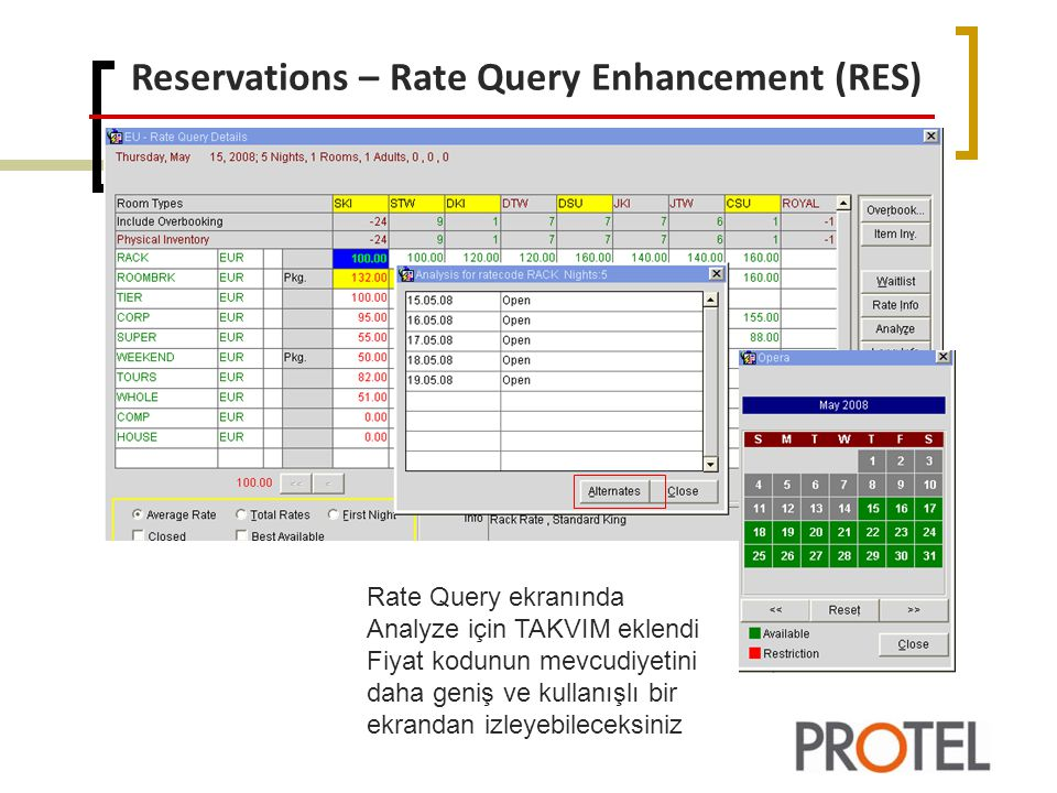 Reservations – Rate Query Enhancement (RES)