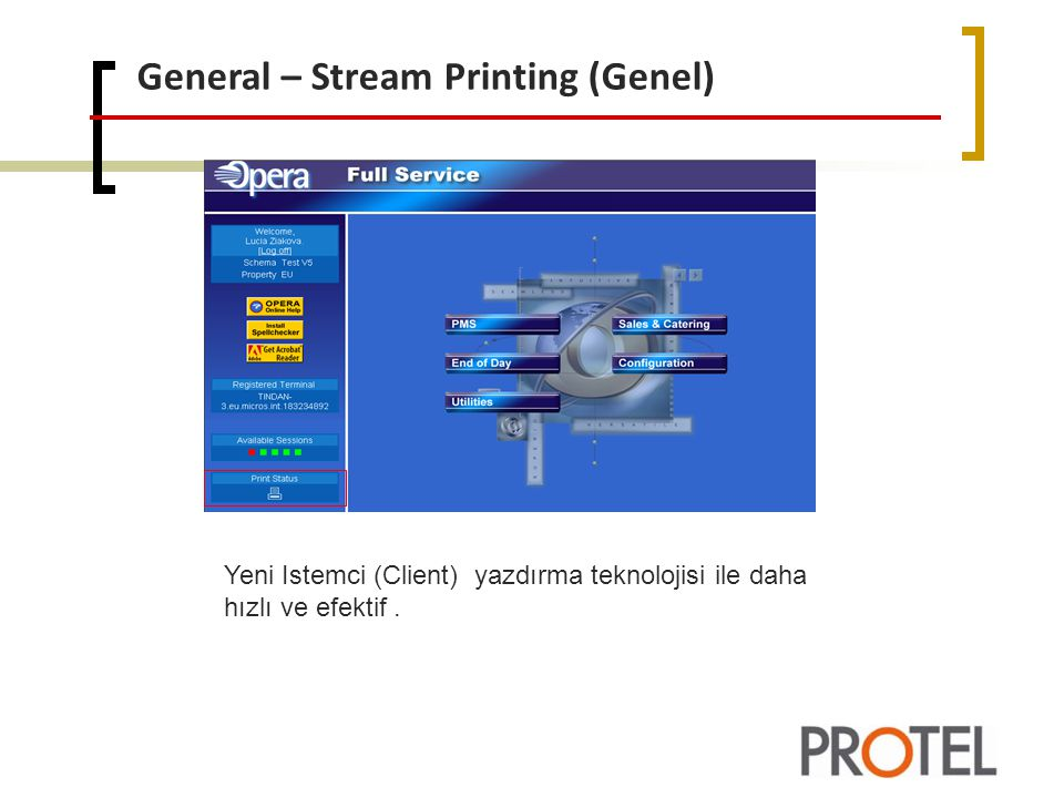General – Stream Printing (Genel)