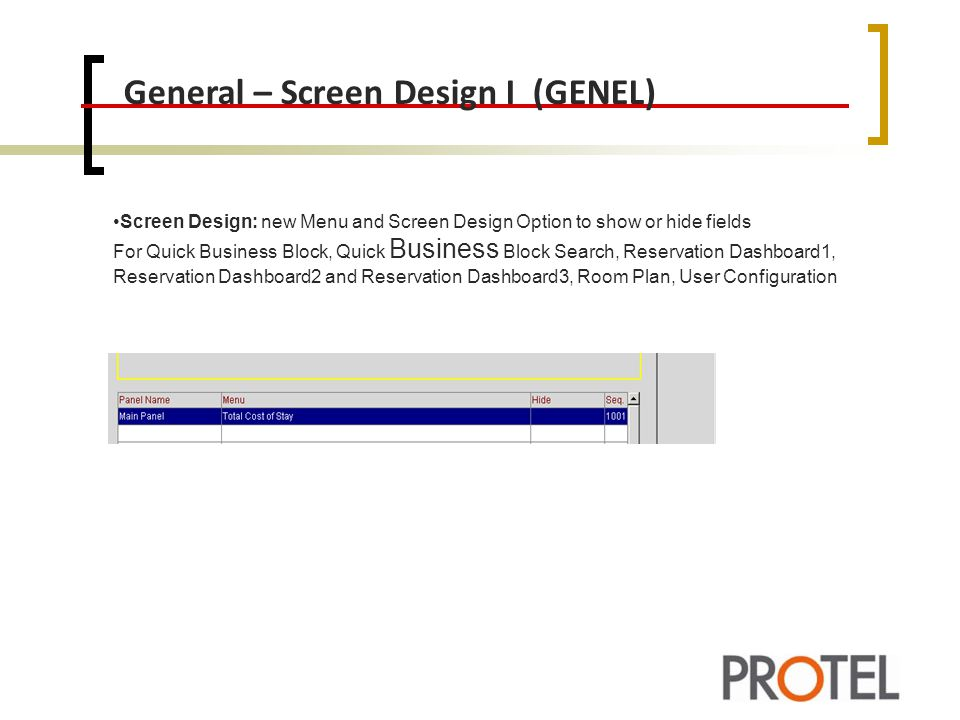 General – Screen Design I (GENEL)