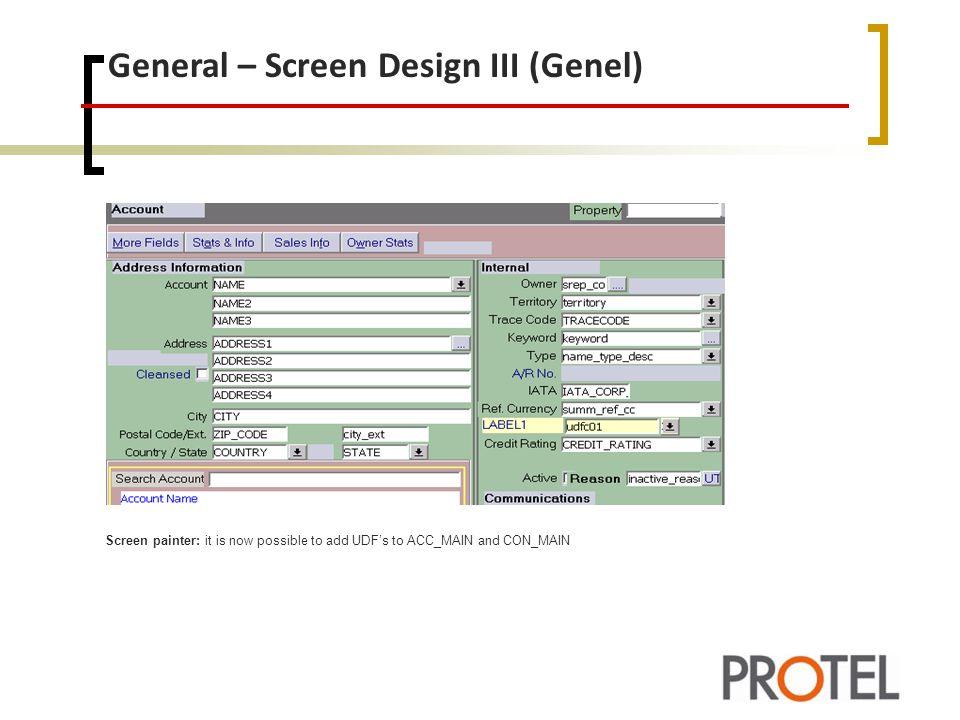 General – Screen Design III (Genel)