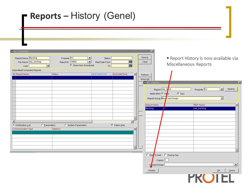 Reports – History (Genel)