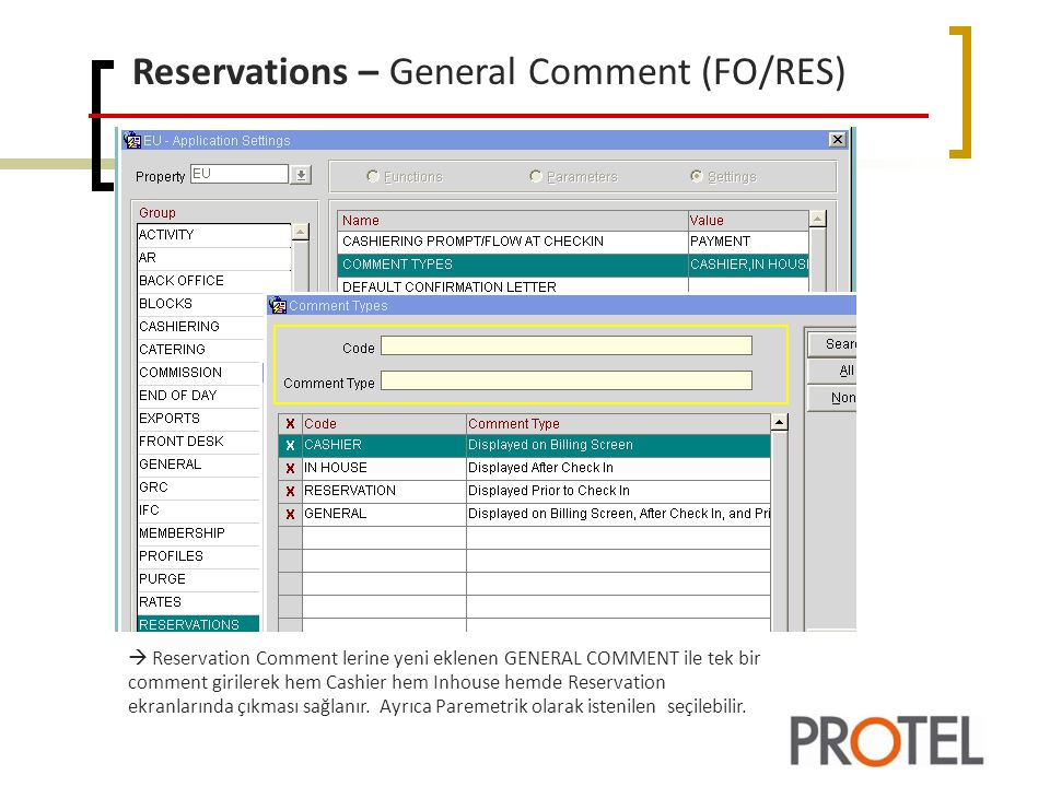 Reservations – General Comment (FO/RES)