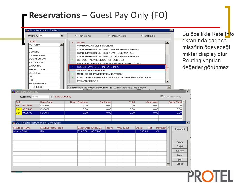 Reservations – Guest Pay Only (FO)