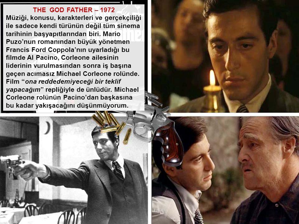THE GOD FATHER – 1972 Müziği, konusu, karakterleri ve gerçekçiliği. ile sadece kendi türünün değil tüm sinema.