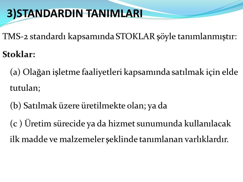 3)STANDARDIN TANIMLARI