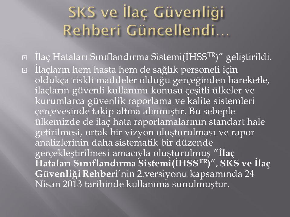SKS ve İlaç Güvenliği Rehberi Güncellendi…