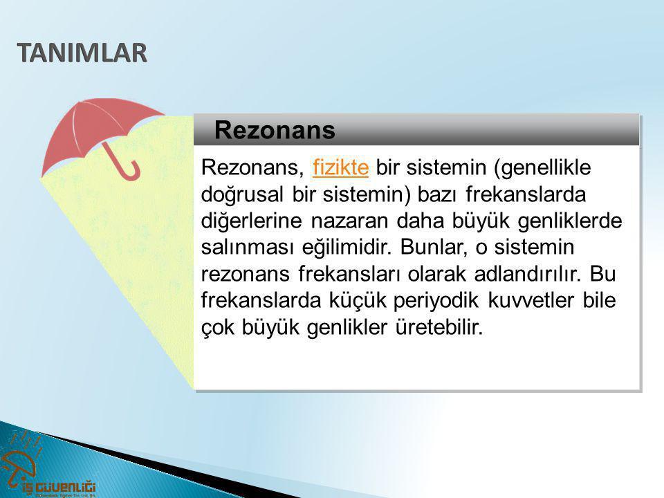 TANIMLAR Rezonans.