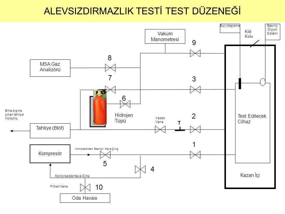 ALEVSIZDIRMAZLIK TESTİ TEST DÜZENEĞİ