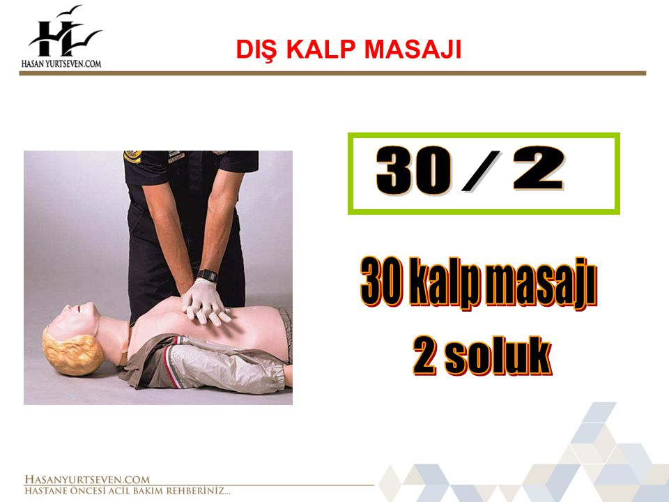 DIŞ KALP MASAJI 30 2 / 30 kalp masajı 2 soluk