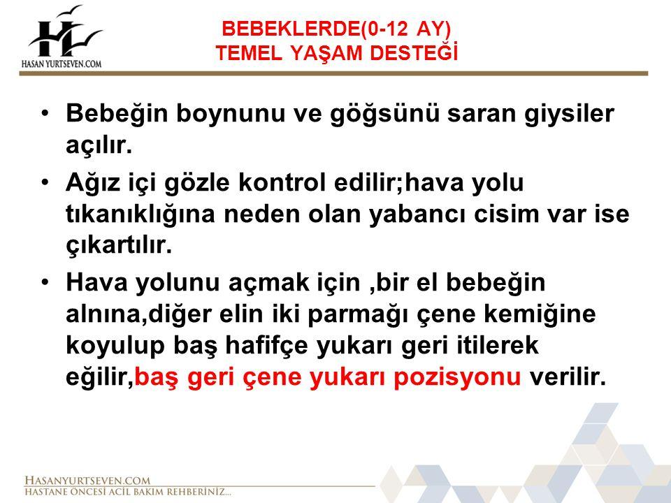 BEBEKLERDE(0-12 AY) TEMEL YAŞAM DESTEĞİ