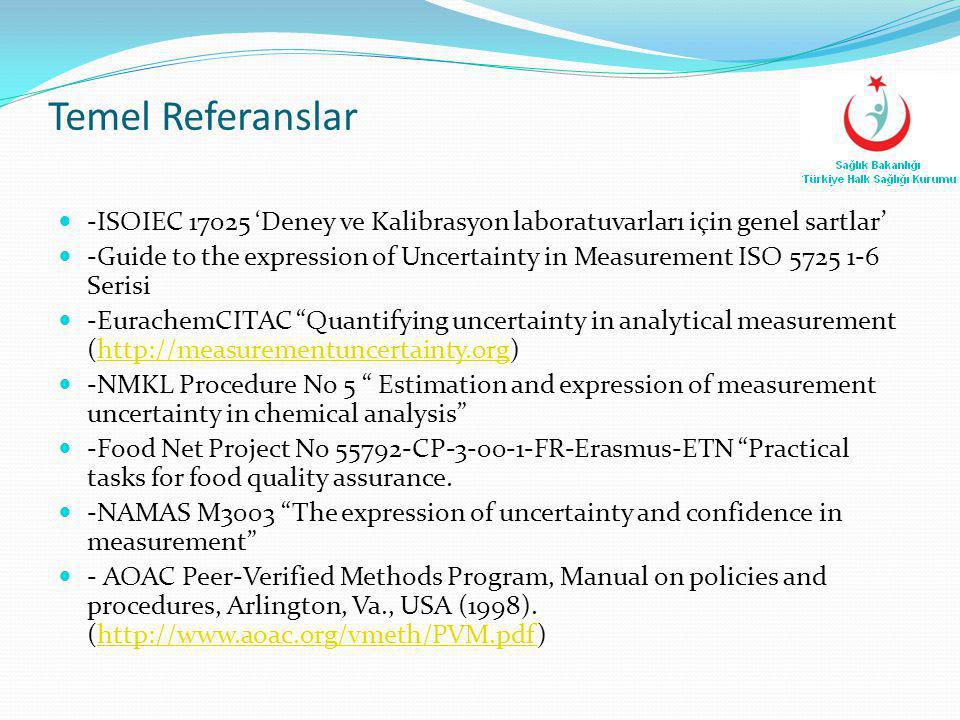 Temel Referanslar -ISOIEC 17025 'Deney ve Kalibrasyon laboratuvarları için genel sartlar'