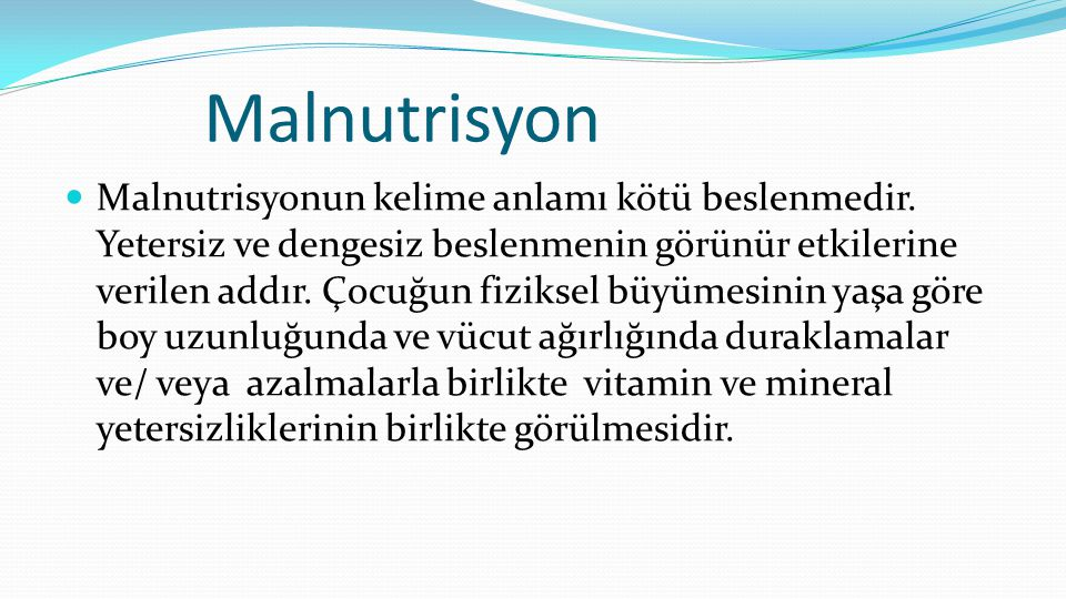 Malnutrisyon