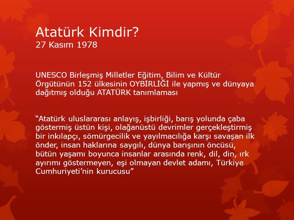 Atatürk Kimdir 27 Kasım 1978
